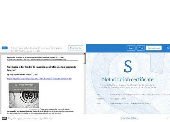 Certificar un posT con tecnología blochain stampery