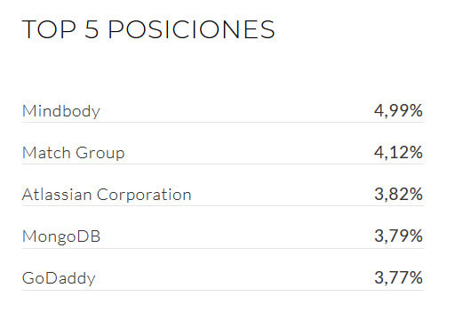 Top 5 posiciones uncommon IPO index